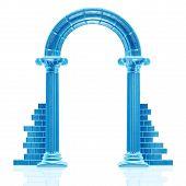 Frozen arch sculpture