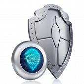Shield digital concept