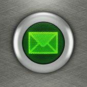 Mail button concept (3d render)