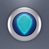 Protection button concept (3d render)