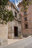 Entrance To Fine Arts Or Belles Artes Museum In Valencia, Spain poster