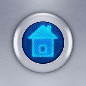 Home button concept (3d render)