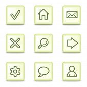 Basic web icons, salad green buttons