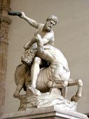 image of truncheon  - Statue of Hercules killing the Centaur by Giambologna - JPG