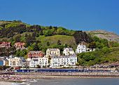 stock photo of guest-house  - Hotels and guest houses on Great Orme Llandudno Wales UK - JPG