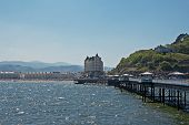 Llandudno Pier In Wales Uk, On A Bright Sunny Day