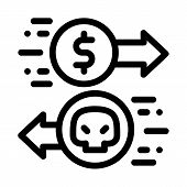 Payment Of Hacker Services Icon Vector. Outline Payment Of Hacker Services Sign. Isolated Contour Sy poster