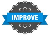 Improve Blue Label. Improve Isolated Seal. Improve poster