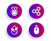 Chemical Formula, Honor And Organic Product Icons Simple Set. Halftone Dots Button. Swipe Up Sign. C poster