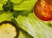 Salada fresca de fundo