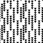 Abstract Seamless Pattern With Graphyc Elements - Triangles.  Avant-garde Collage Style. Geometric W poster