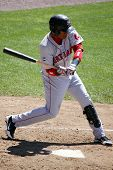 Portland Sea dogs' Designated hitter Renaldo Rodriguez swings at a pitch