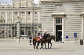 Guards at Royal palace, Madrid, Spain