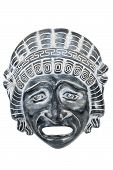 Ancient Reproduced Mask Used From Actors On Greek Ancient Tragedy And Comedy In Theater Performance, poster