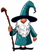 Simple Cartoon Wizard with staffs