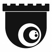 Indoor Security Camera Icon. Simple Illustration Of Indoor Security Camera Vector Icon For Web Desig poster