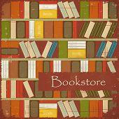 Vintage Bookstore Background