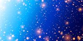 Cosmos Background. Colorful Space With Stardust And Shining Stars. Bright Nebula And Milky Way. Blue poster