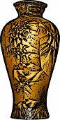 Golden Vase Illustration