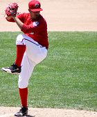 Harrisburg Senators Rafael Martin throws  a pitch