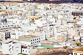 image of urbanisation  - white houses in Arrecife the capital city of lanzarote island - JPG