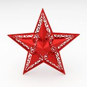 Red Decorative Star