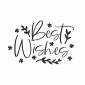 Best Wishes Holiday Hand Written Lettering Phrase poster