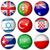 Bola de bandeira nacional conjunto 4