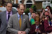 GILLINGHAM - MAY 31:  Prince Edward speaking to local residents in Gillingham May 31, 2012
