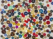 Plastic Buttons, Colorful Buttons Background, poster