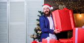 Size Matters. Biggest Gift For Christmas. Celebrate Christmas With Giant Gifts. Big Wrapped Box With poster