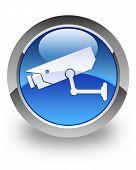 CCTV camera glossy icon