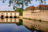 Sightseeing Of France. Beautiful View Of Petite France Quarter. A Popular Attraction In Strasbourg poster