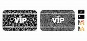 Vip Access Card Composition Of Raggy Elements In Variable Sizes And Color Tinges, Based On Vip Acces poster