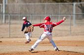 picture of little-league  - youth little league pitcher about to throw the ball - JPG