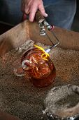 Finishing Glass Art With Blowtorch