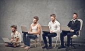 stock photo of sad  - business evolution - JPG