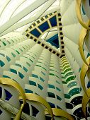 The World's Tallest Atrium In Burj Al Arab Hotel In Dubai