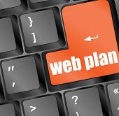 Web Plan Concept With Key On Computer Keyboard