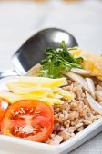 stock photo of nasi  - nasi goreng or fried rice in malay - JPG