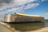 stock photo of biblical  - Full size wooden replica of Noah - JPG