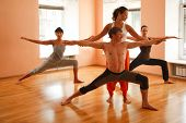 picture of yoga instructor  - Yoga group   - JPG