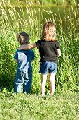 Children By Pond