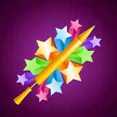 vector holi festival pichkari with stars