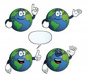 Smiling Earth globe set