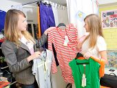 Pretty Girls Pick Out Clothes To Buy