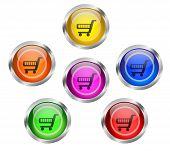 Shopping Cart Icon Button