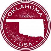 Selo vintage estilo Oklahoma EUA Estado