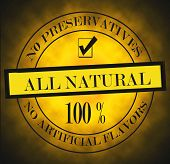 All Natural Label No Preservatives