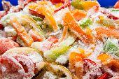 verduras congeladas closeup